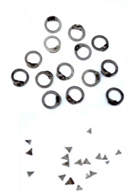 Flat rings with Wedge rivets