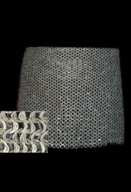 Skirt - Flat Ring Wedge Riveted Chainmail