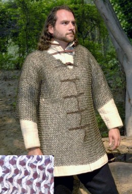 Haubergeon -Half Sleeves Chainmail Shirt
