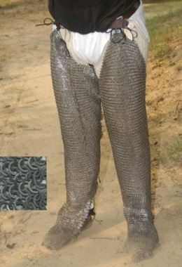 Full Legs Chainmail - Chausses - Full Legs with feet open at  the back