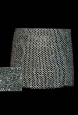 Chain skirt, flat ring, fully riveted