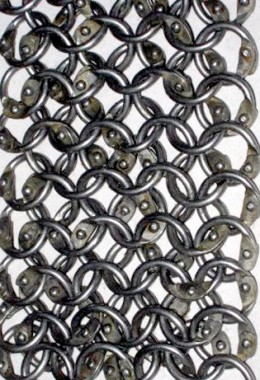 Chainstrips - round rings 9mm, fully riveted (round rivet)