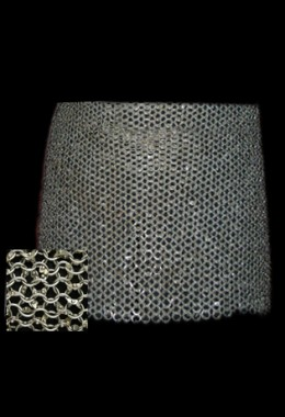 Chain skirt, round rings 9mm, fully riveted (round rivet)