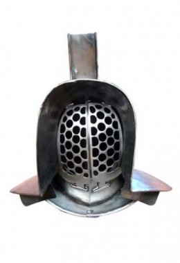 Murmillo Helmet in 1.6 mm Tinned Steel