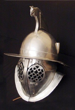 Thraex Helmet in 1.6 mm Tinned Steel