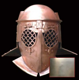 Provocator Helmet in 1.6 mm Tinned Steel