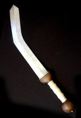 Bent short swords