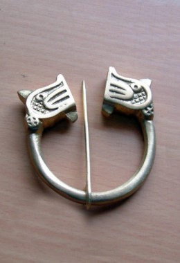 Viking  Ring Fibel Clasp with Animal Head