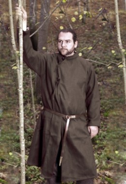 Coat 10th C Natural brown