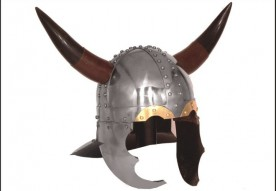 Viking Horned Helmet -16 Gauge Steel w/leather liner